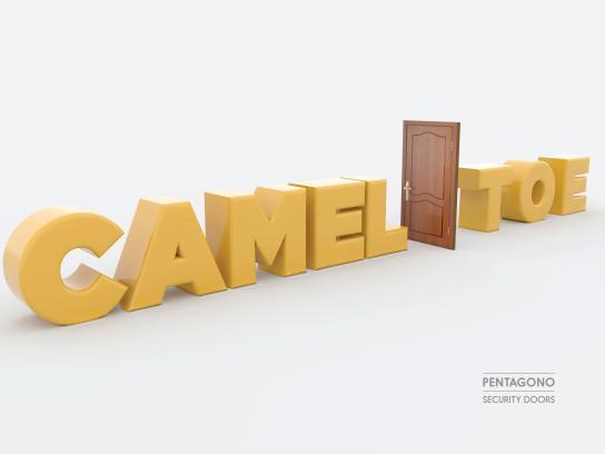 Pentagono Security Doors Print Ad - Camel Toe