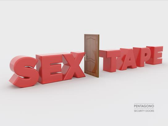 Pentagono Security Doors Print Ad - Sex Tape