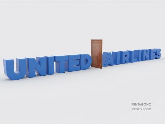 Pentagono Security Doors Print Ad - United Airlines