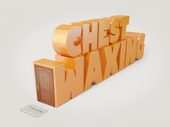 Pentagono Security Doors Print Ad - Chest waxing
