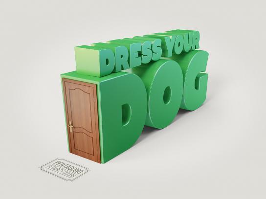 Pentagono Security Doors Print Ad - Dress your dog