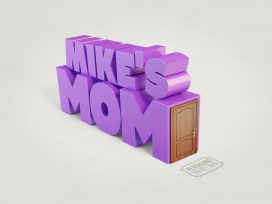 Pentagono Security Doors Print Ad - Mike's mom