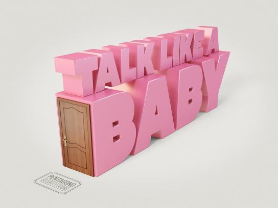 Pentagono Security Doors Print Ad - Talk like a baby