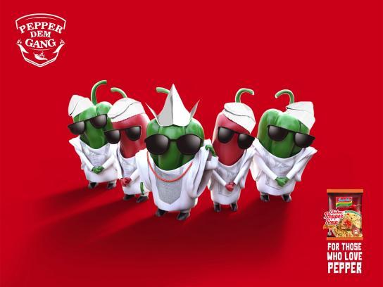 Indomie Noodles Print Ad - Pepper Dem Yoruba Demons