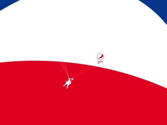 Pepsi Print Ad - Feel Light - Parachute