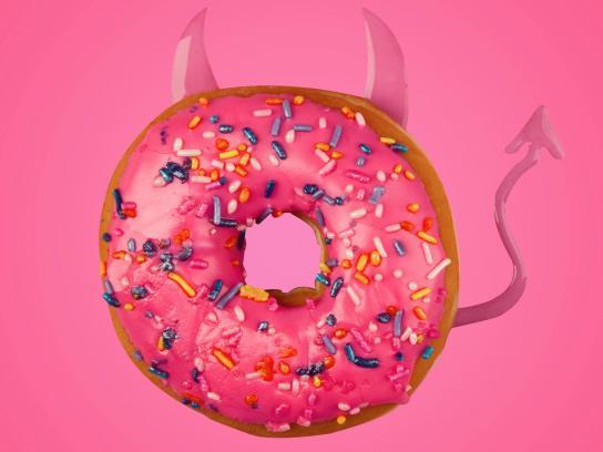 Pepto Bismol Print Ad - Donut