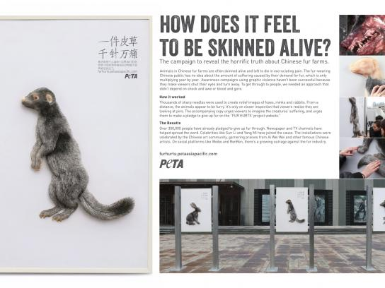 PETA Outdoor Ad -  Fur Hurts