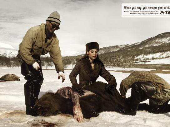 PETA Print Ad -  Bear