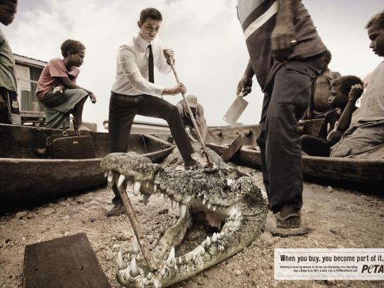 PETA Print Ad -  Crocodile
