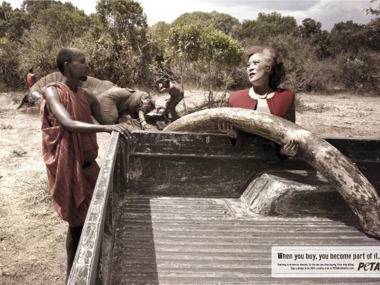PETA Print Ad -  Elephant