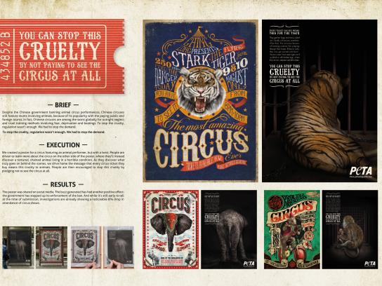 PETA Outdoor Ad -  Circus