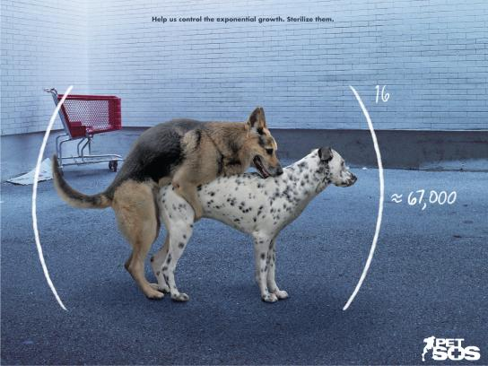 Pet SOS Print Ad - Exponential Growth - Dogs