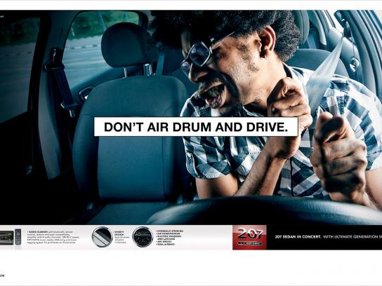Peugeot Print Ad -  Air drum