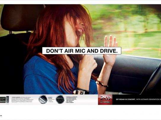 Peugeot Print Ad -  Air mic