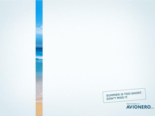 Avionero Print Ad - Summer is too short, 3