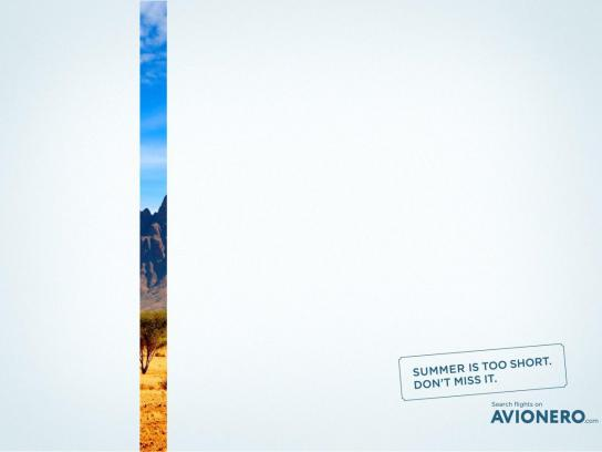 Avionero Print Ad - Summer is too short