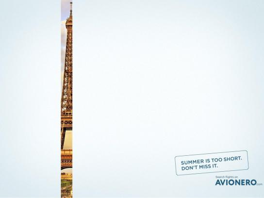 Avionero Print Ad - Summer is too short, 2