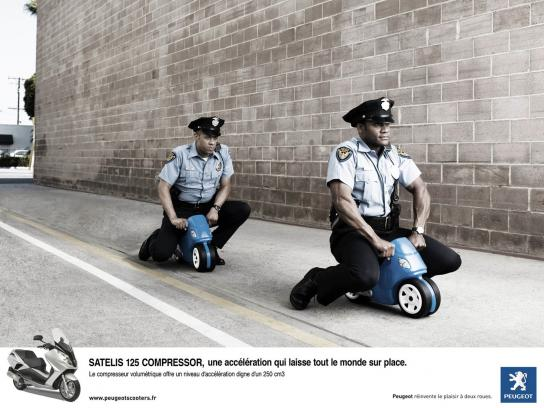 Peugeot Print Ad -  The cops