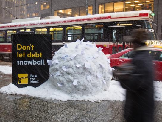 Interac Outdoor Ad -  Snowball