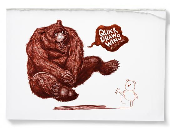 Pictionary Print Ad -  Bear