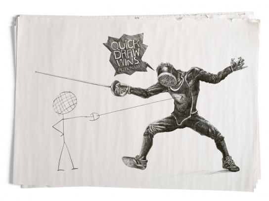 Pictionary Print Ad -  Fencing