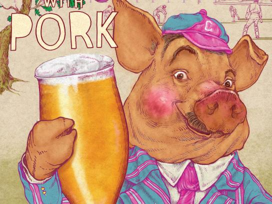 Britain's Beer Alliance Print Ad - Pig