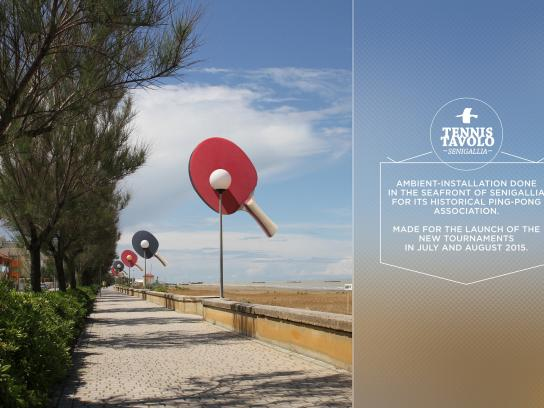 Ping-Pong Association of Senigallia Outdoor Ad -  Seaside