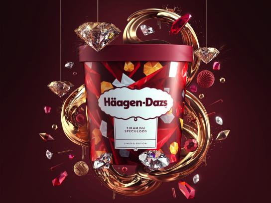 Haagen-Dazs Print Ad - Extraordinary Luxurious