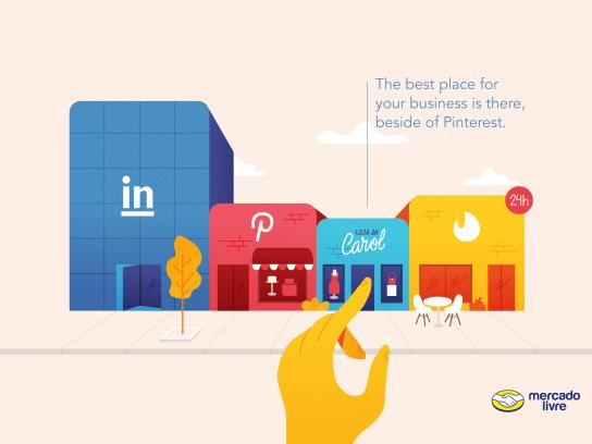 Mercado Livre Print Ad - Beside of Pinterest
