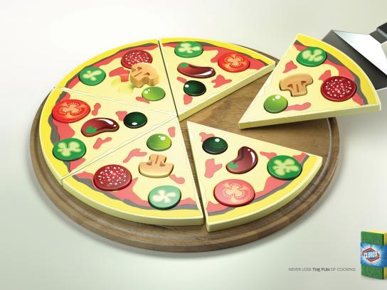 Clorox Print Ad -  Pizza