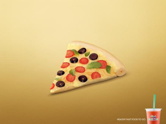 List To Go Print Ad -  Pizza