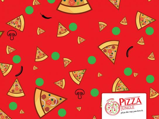 Pizza Jungle Print Ad - Owambe-Ankara, 2