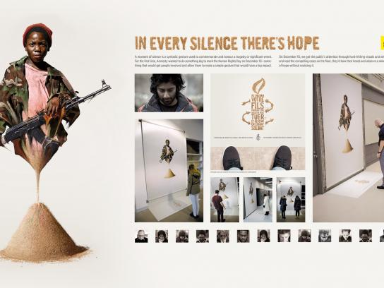 Amnesty International Outdoor Ad -  Minute of hope, 2