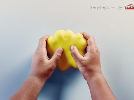 Play-Doh Print Ad - The first day