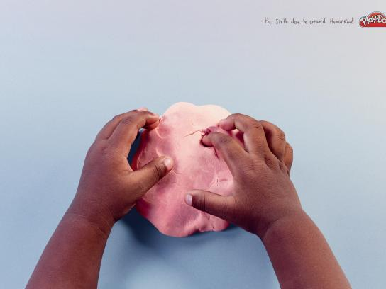 Play-Doh Print Ad - The sixth day