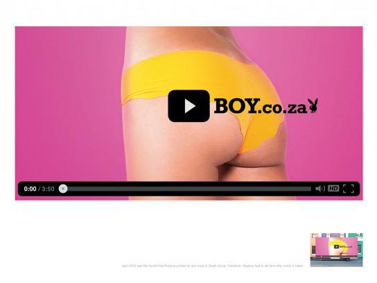 Playboy Outdoor Ad -  Bum