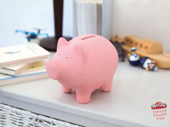 Play-Doh Print Ad -  Piggy bank
