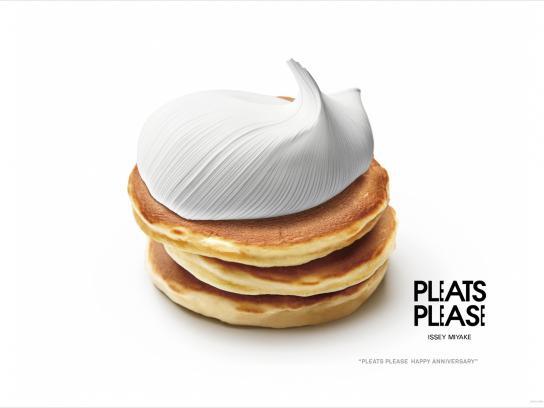 Issey Miyake Print Ad -  Anniversary, Pancakes