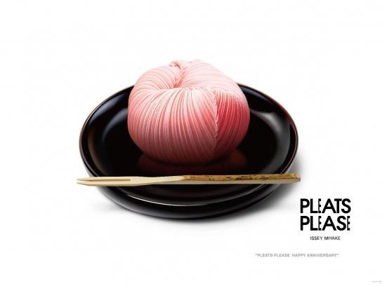 Issey Miyake Print Ad -  Anniversary, Salmon
