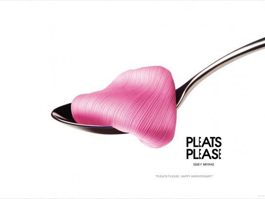 Issey Miyake Print Ad -  Anniversary, Spoon