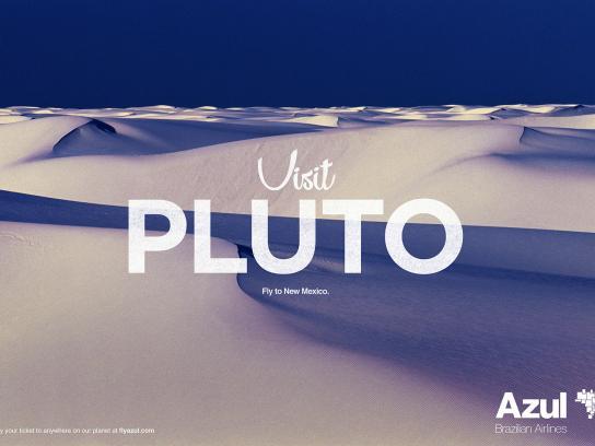 Azul Brazilian Airlines Print Ad - Pluto