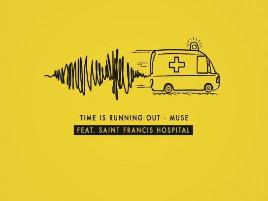 Polk Audio Print Ad -  Ambulance