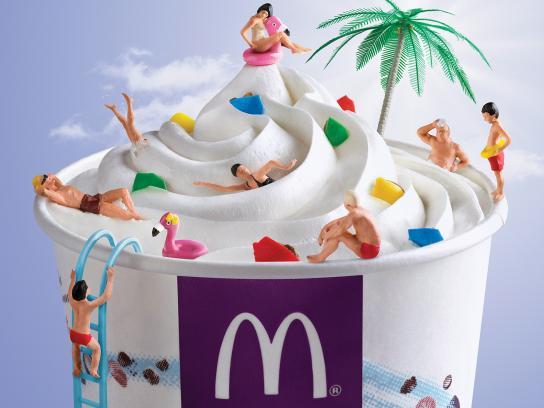 McDonald's Print Ad - Pool
