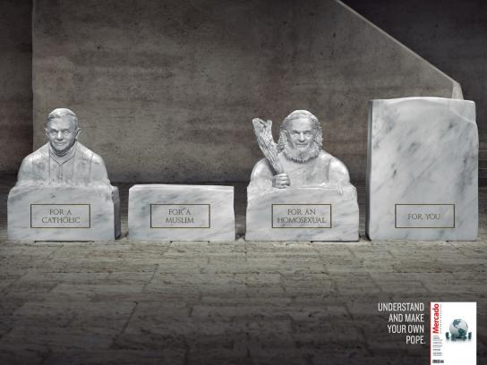 Mercado Magazine Print Ad -  Pope