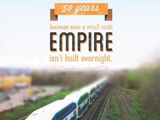 George's Trains Print Ad -  50 Years
