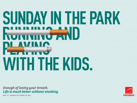 Portonave Print Ad - Sunday in the Park With the Kids