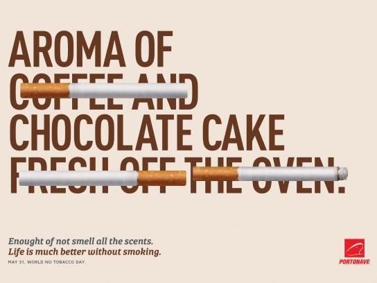 Portonave Print Ad - Aroma of Chocolat Cake