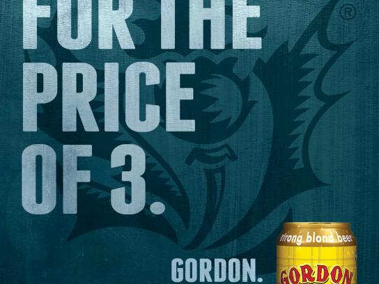 Gordon Finest Beers Outdoor Ad -  2+1