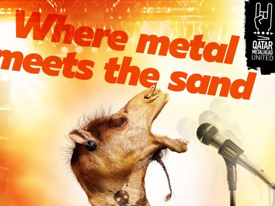 Qatar Metalhead United Print Ad - Where Metal Meets the Sand