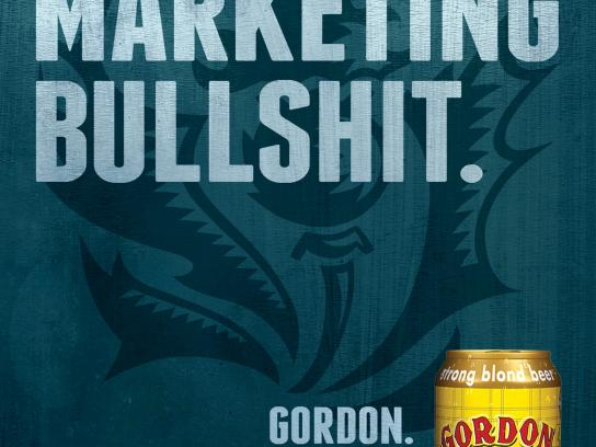 Gordon Finest Beers Outdoor Ad -  Bullshit